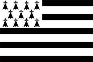 drapeau breton gwenn ha du